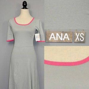 Lularoe Ana Long Dress XS NWT